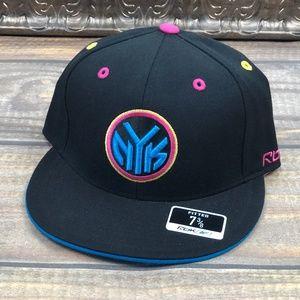 New York Knicks Reebok NBA Kolors Fitted Hat Black